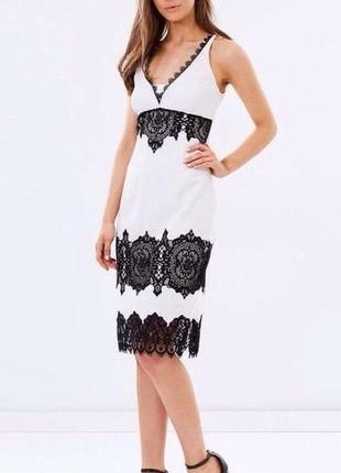 Шикарное платье с кружевом p.xs-s