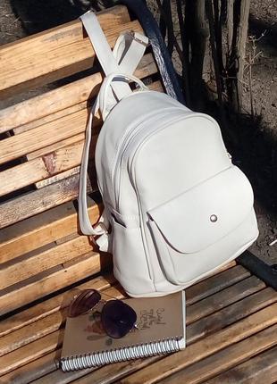Рюкзак, мини-рюкзак, мини рюкзак, маленький рюкзак, минирюкзак бежевый