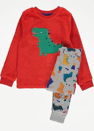 Пижама для мальчика от george. упакована подарочной лентой.