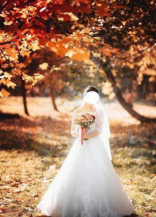 Осеннее свадебное платье/весільна сукня berta, берта + фата
