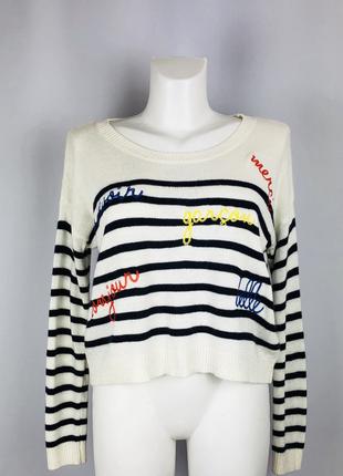 Укороченный свитер в полоску бренда  asos (907)