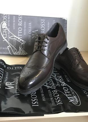 Туфли кожаные vitto rossi 40