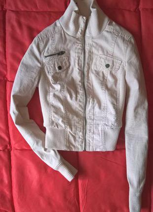Пудровая котоновая куртка