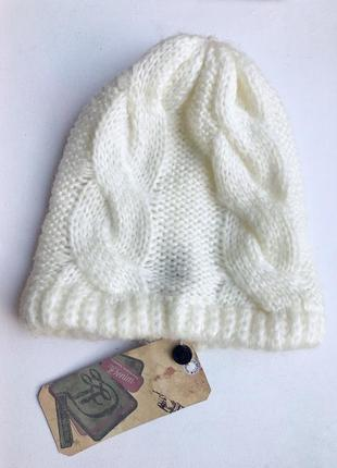 Шапка крупной вязки шапка бини tom tailor zara mango bershka h&m