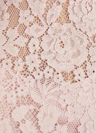 Нежно розовое кружевное платье zara6 фото
