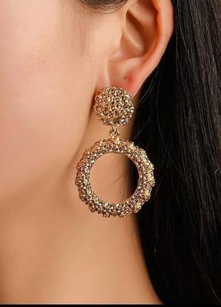 Серьги мини в стиле zara сережки золото винтаж круглые
