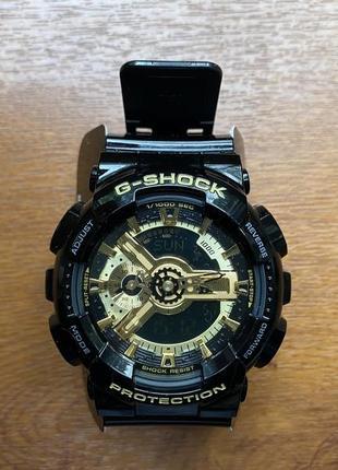 Чоловічий годинник casio ga-110gb-1aer gold-black limited edition