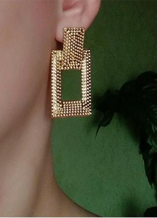 Серьги в стиле мини zara сережки золото винтаж