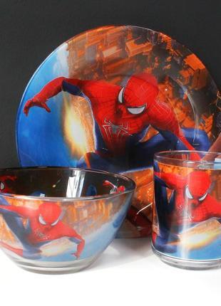 """Детский набор для обеда """"человек - паук. spider-man"""" 🥰"""