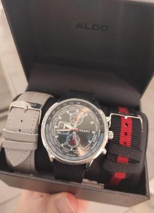 Мужские часы из нержавеющей стали, три ремешка, бренд aldo! оригинал, из португалии!