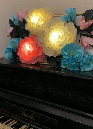 Декоративне панно картина світильник