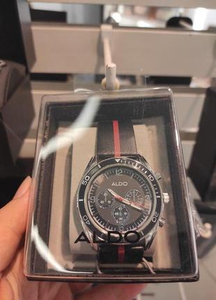 Мужские аналоговые часы из нержавеющей стали, бренд aldo! оригинал, из португалии!