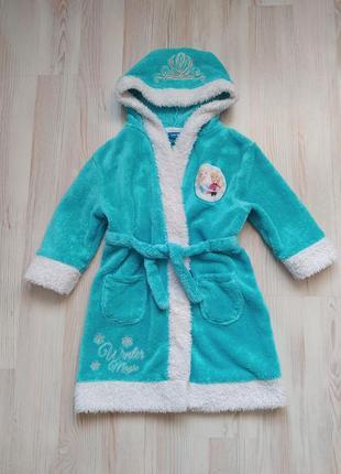 Детский  халат холодное сердце frozen(анна и эльза) от mini club на 3-4года