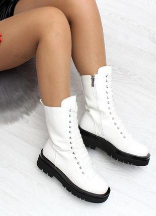 Ботинки на грубой подошве зима