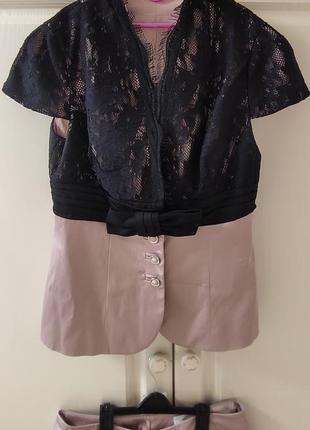Костюм брюки пиджак с коротким рукавом