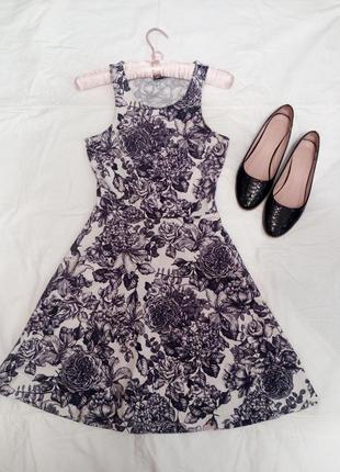Класcное пышное платье р.xs