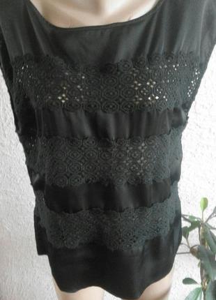 Стильная базовая блуза с кружевом от an'ge