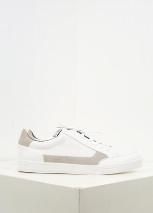 Calvin klein leather low top sneakers белые кожаные кроссовки сникеры люкс