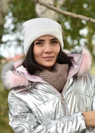Жіноча шапка на флісі