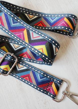 Новый широкий съёмный ремень для сумки с серебристой фурнитурой