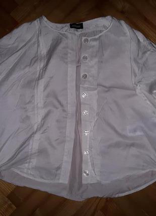 Белая свободная блуза, хлопок+шелк, от kookai! p.-36