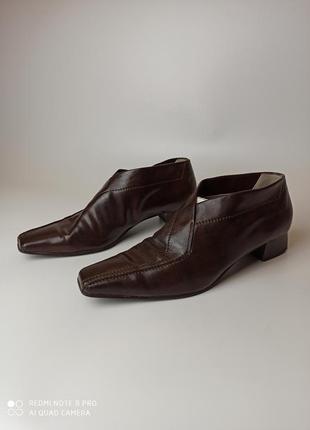 Туфли с квадратным носком в стиле balenciaga bottega veneta