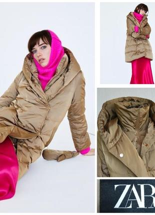 Фирменная стильная качественная натуральная пуховая куртка пальто