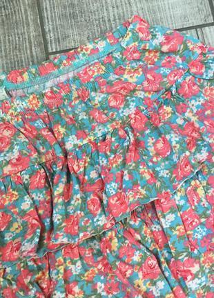 Милая яркая легкая летняя юбка мелкоцвет