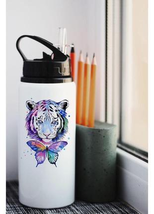Бутылка для воды тигр