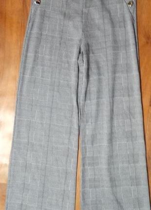 Стильные брюки/штаны кюлоты в клетку quiz размер евро 38 (10) высокая талиянаш ( s/m)