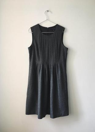 Платье из натуральной шерсти banana republic шерстяное серое платье на зиму