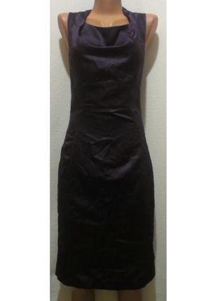 Пурпурно-фиолетовое шелковое платье на подкладке bgn