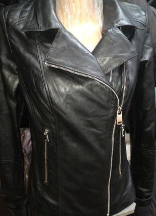 Курточка косуха натуральная кожа xs s m l xl 2xl  3xl 4xl