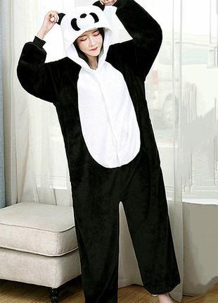 Кигуруми панда с обьемной мордой комбинезон