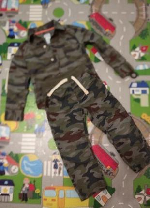 Костюм рубашка и брюки милитари