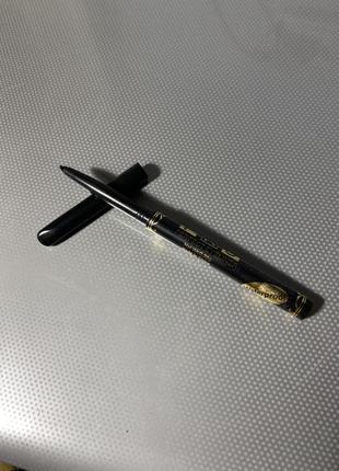 Механический чёрный карандаш мягкий для глаз водостойкий