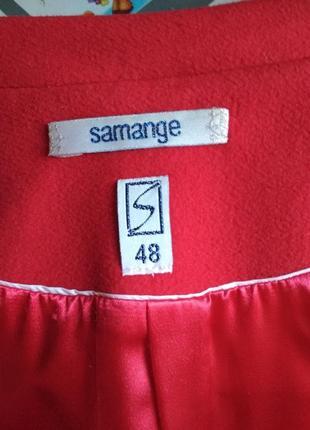 Красивое женское пальто красное3 фото