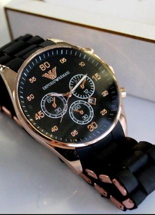 Наручные часы emporio armani кварц (gold - black) унисекс
