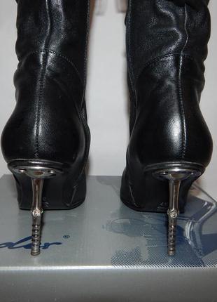 Ботинки на шпильке со стразами, демисезон, байка
