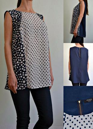 Легкая блуза  сзамочком на спине