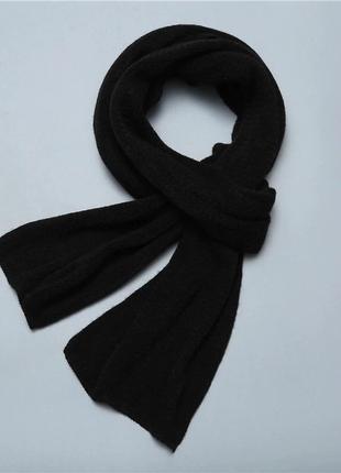 Чёрный шарф мужской стильный шарфик