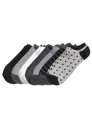 Набор из 7 пар коротких мужских носков, носки-неделька h&m