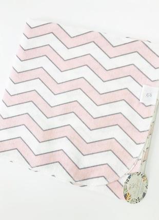 Пеленка фланелевая зигзаг розовая 80*100