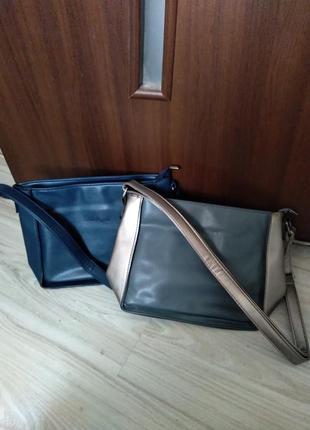 Женская сумка двухцветная и синяя