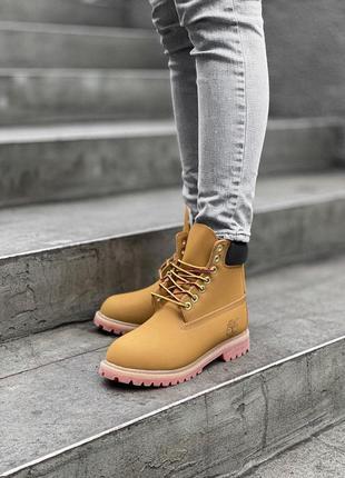 Timberland ginger женские осенние ботинки коричневого цвета 😍 (без меха/термо)