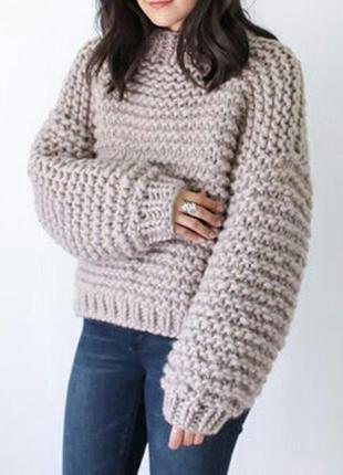 Объемный женскии свитер  oversize