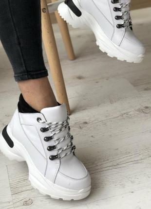 Ботиночки кроссовки натуральная кожа
