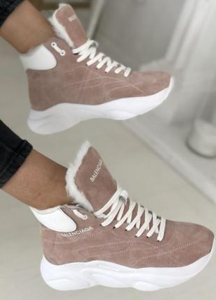 Зимние кроссовки натуральная кожа и замша2 фото