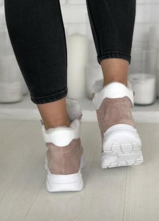 Зимние кроссовки натуральная кожа и замша3 фото