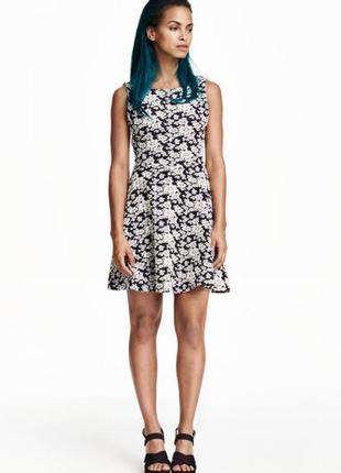 Жаккардовое платье h&m
